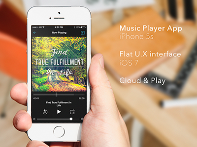 iOS Music Player mobile ui ux