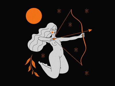 Sagittarius body girl woman design mystic archer moon constellation cosmic astrology zodiac signs zodiac astral sagitario sagittarius