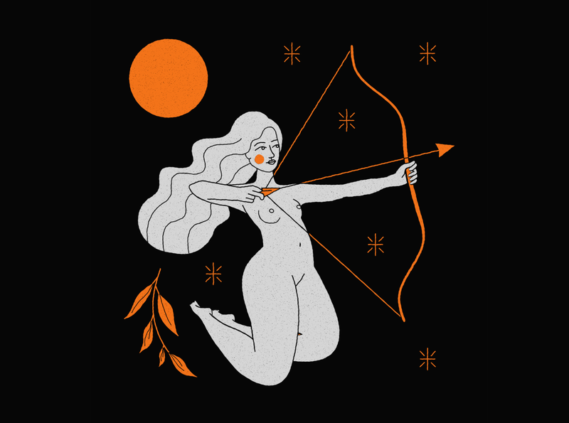 Sagittarius body girl woman design mystic archer moon constellation cosmic astrology zodiac signs zodiac astral sagitario sagittarius