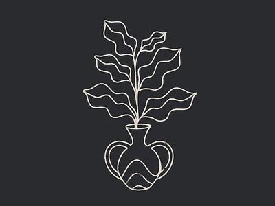 Plants icon branding vector lineal design illustration plant illustration plant