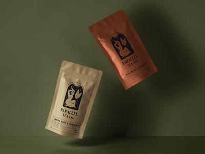 Packaging Desing logo teabag package design mate yerba yerba mate mystic illustration tea packaging