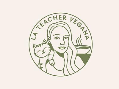 Logo - La Teacher Vegana cooking app cooking vegan girl brand logo