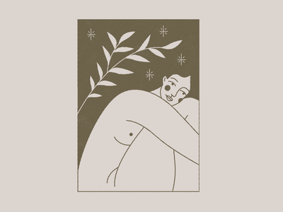 Hic Et Nunc (here and now) now here esoteric branding nude body vector girl design icon mystic woman illustration woman