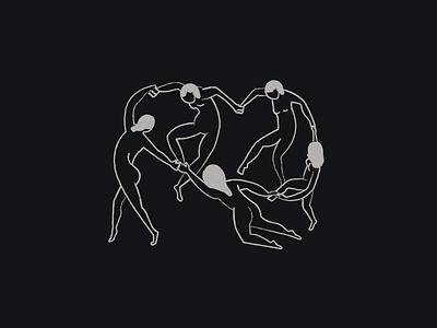 Dance (inspired by Matisse) branding body woman girl logo design illustration dancer matisse dance dancers