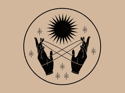 Hands body lineal branding illustration esoteric magic magia logo mystic color design hand hands icon