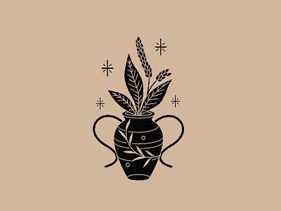 Magic Plants lineal vector logo illustration icon design mystic astrology esoteric magic plants