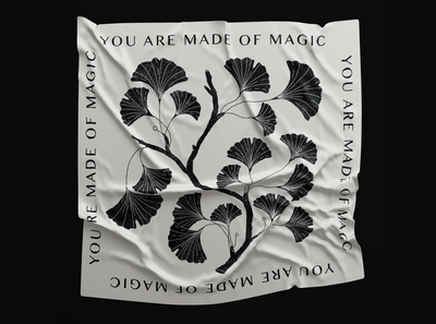 You are made of magic black  white black plants botanical botanic icon branding illustration logo mystic magical mockup quotes magic