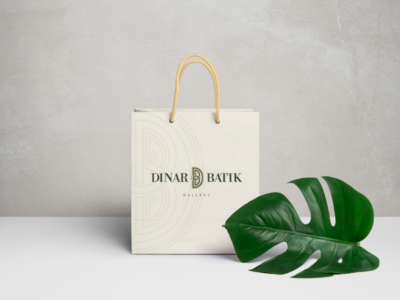 Dinar Shopping Bag brand identity packaging design packaging