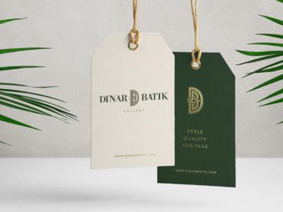 Dinar Batik Hang Tag graphic design packaging hangtag brand identity