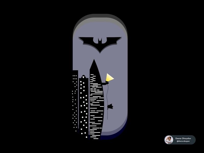 Batman Night illustration branding superhero adobe adobe illustrator dc comics night batman ux vector flat art adobe xd dribbble illustration ui design