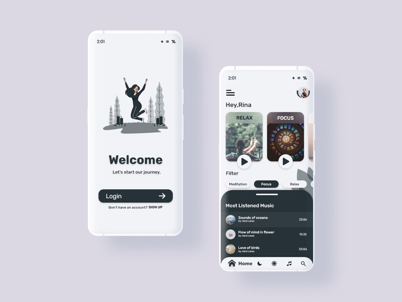 Meditation App design covid19 healthcare meditation app design green ecommerce app website landingpage figmadesign minimalist ios android dailyui adobe xd adobe dribbble ux ui design