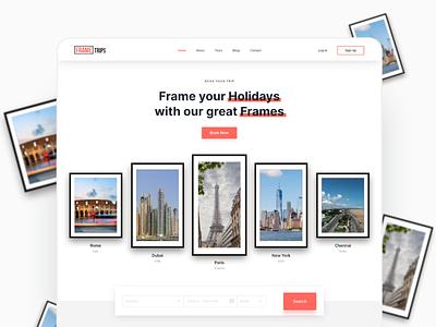 Travel Agency Website 3d minimalist ux ui mockups freebies wesbite website design travel website travel agency travel
