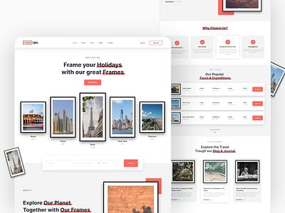 Travel Agency Website freebies travel app web 3d mockups minimalist ux ui landing page website web design travel agency travel