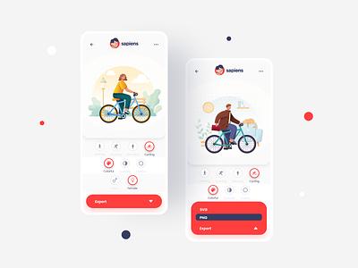 Sapiens Mobile Version web design illustrations freebies mobile ui 3d mockups minimalist ux ui design mobile app design ui8 sapiens mobile app