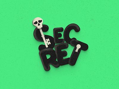 Secret Illustration freebies grain texture typography vector 3d minimalist secret illustration