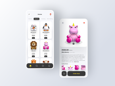 Toy Store app freebies illustration branding mockups 3d ux ui toy store toy story product design product page