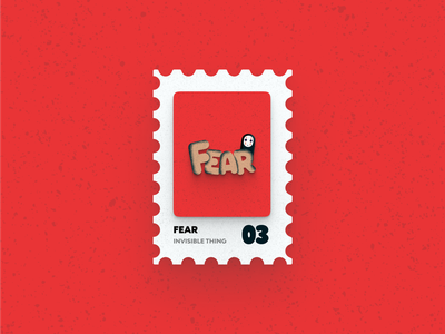 Post Stamp Series: FEAR post stamp ghost spirited away illustrations fear vector typography art typogaphy grain texture freebies