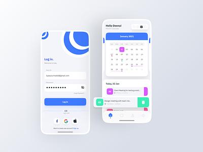 Calendar app ios app mobile design freebies mockups 3d minimalist calendar 2021 ux ui calendar ui calender calendar app