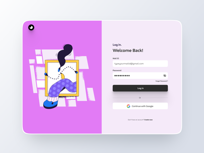Login Screen dailyui freebies 3d illustration minimalist ux ui login screen website