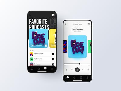 Podcast App freebies mockups 3d minimalist mobile music music player music app podcast app podcast