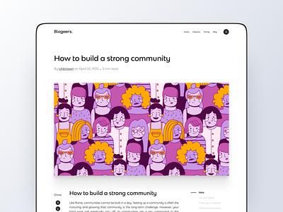 Website Blog Page mockups freebies blogging illustration minimalist web design website blog blog design blogger