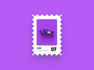 Post Stamp Series: Vibe post stamp typography art typography freebies mockups illustration 3d vector vibes vibe