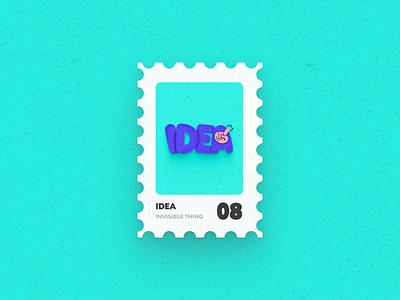 Post Stamp Series: Idea freebies vector mockups illustration minimalist 3d ideas plan
