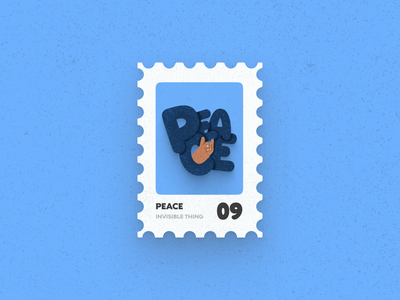 Post Stamp Series: Peace freebies mockups design 3d vector typography art typography illustration peaceful peace