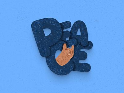 Peace illustration peaceful peace freebies design minimalist 3d illustrations typography art typography
