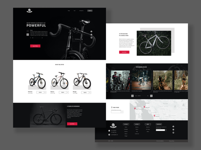 RoarBikes Homepage concept website design web design webdesign website web ux ui design