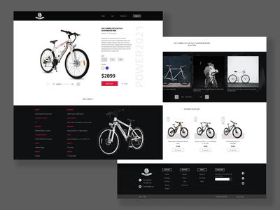 RoarBikes Product Page concept productpage product website design web design webdesign website web ui ux design