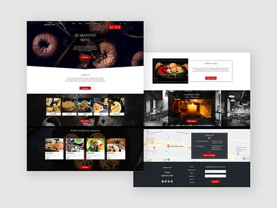 Restaurant Website Design food delivery food and drink food web design webdesign website web ui ux design