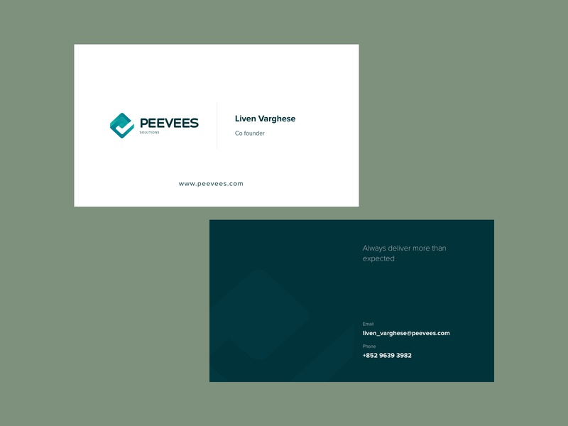 Corporate business card identity branding business card