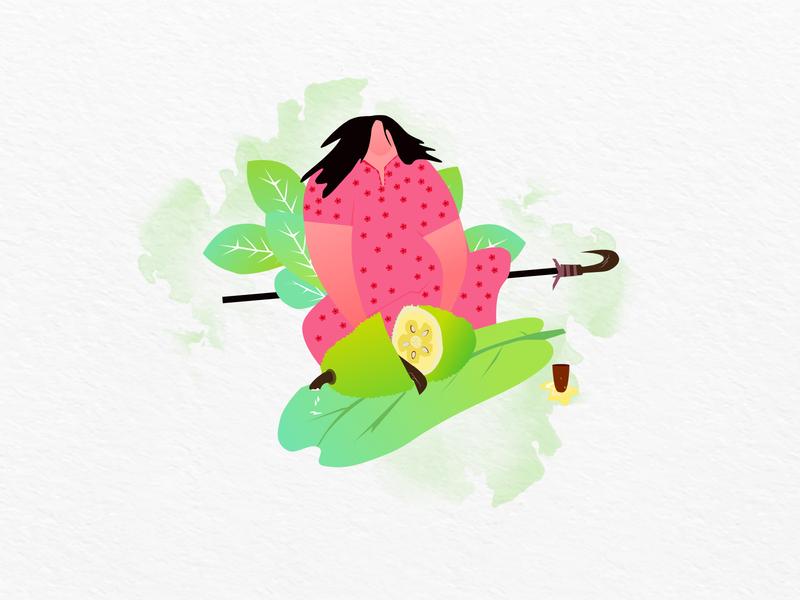 Jackfruit people kerala jackfruit illustrator art