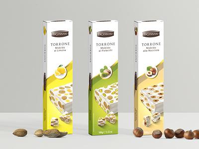 Torrone Di Gennaro packaging mockup packagingdesign packaging torrone packaging design package design packagedesign label packaging nougat food labeldesign food illustration food design design