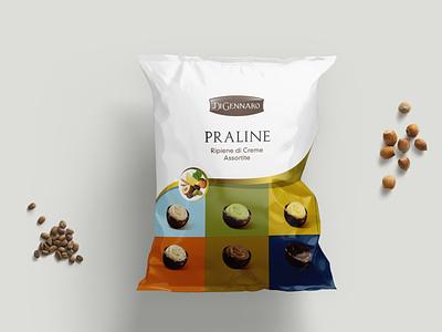 Praline di Cioccolato Di Gennaro illustration design illustration packaging package design packagedesign nougat label packaging labeldesign food illustration food design food design