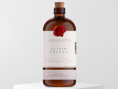 Santini Anticha Distilleria alcohol packaging graphic design glass vector logo branding illustration packaging mockup packaging design package design labeldesign label packaging design