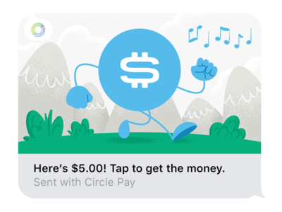 Circle for iMessage Illustration payment money messaging iphone ios imessage circle pound euro dollar bitcoin illustration