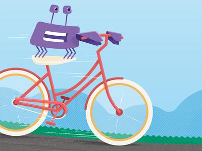 Circle wallpaper: April 2017 ride spring dutch style bicycle bike wallpaper phone april illustration design crab circle