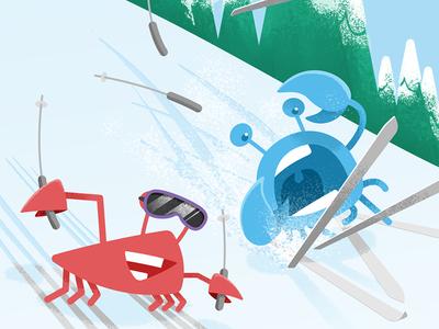 Circle wallpaper: February 2017 winter trees mountain snow skis skiing wallpaper phone illustration design crab circle