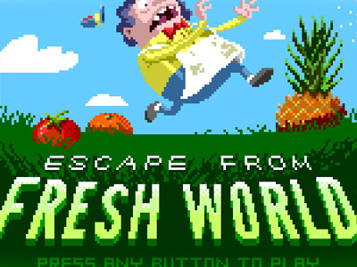 Escape from Fresh World •Title Screen