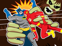 Batman & The Flash vs. Shaggy Man