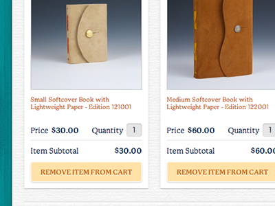 ToBoldlyFold.com •Shopping Cart paper texture ecommerce ui design ux design shopping cart big cartel