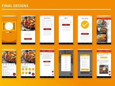 CookMal! Final Designs app flat minimal ui design