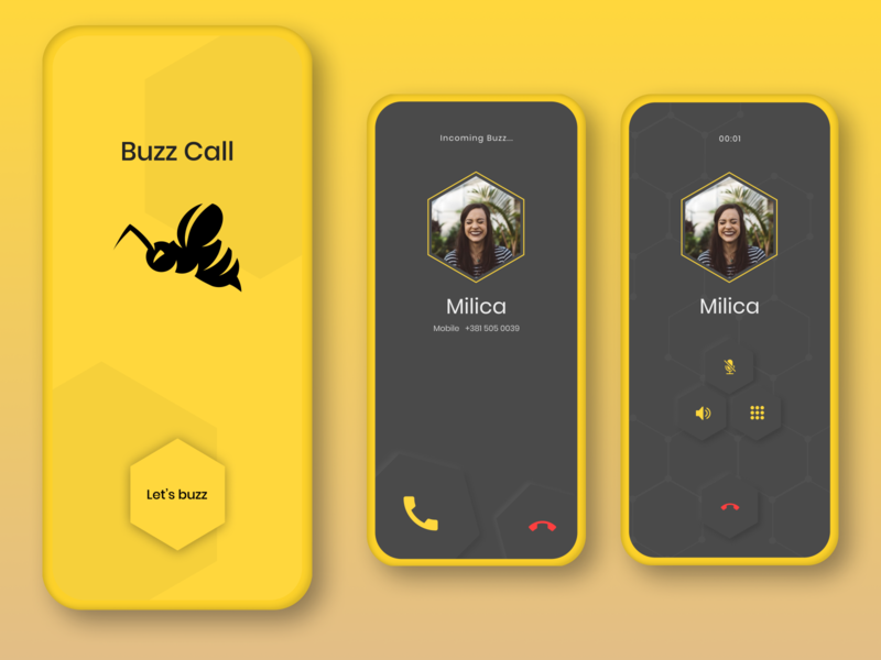 Caller app concept dribbble ui ux user experience concept soft ui app ui app design app logo illustration ux design user interface typography design bee minimal vector ui design ux ui