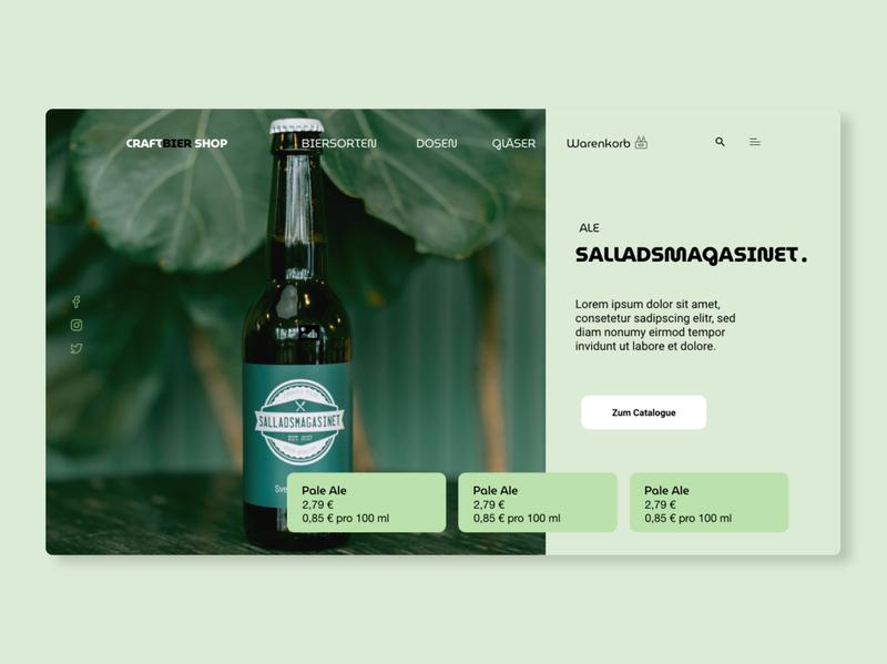 UI/UX Webdesign for german Craft Beer Shop website design webdesign deutsch germany bier beer design website uxdesign ui  ux ui design