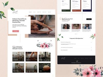 Blog & Lifestyle Landing Page branding graphic design landing page blog ui