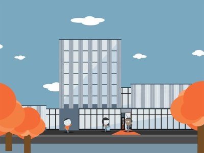 SintLucas | VMBO | Visual Design building school college vector student visual design animation illustration 2d animation