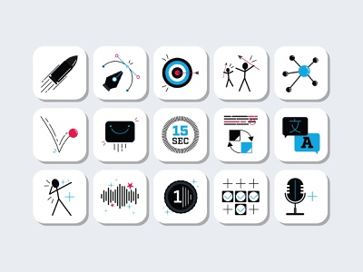 Anglure | Icons website 2d visual design 2d animation animation vector illustration icons