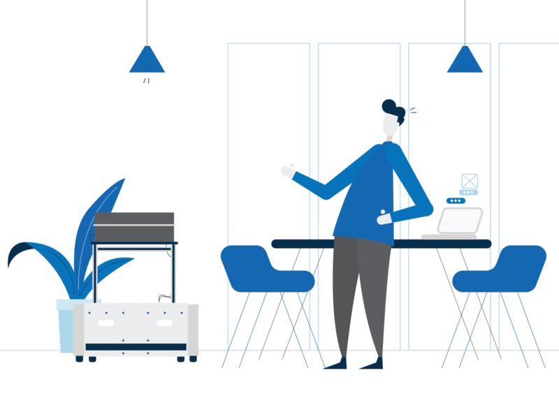 Technology   Visual Design blue technology explainer video explainer animation 2d design visual design vector illustration animation 2d animation